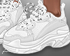 f. white sneakers