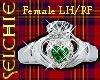 !!S Claddagh Emerald F