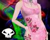 Pink Floral Corset Top