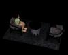 [W]Table w chair Black