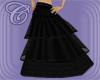 Layered Long Black Skirt