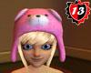 #13 Bear Hat Pink