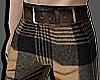 Plaid Pattern Pants