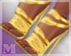 AM:: Gold Leaf Stilettos