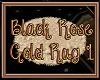 Black Rose Gold Rug 1