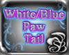 White/Blue PAW tail