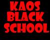 kaos black school M