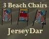 3 Beach Chairs