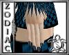 Blue Checkered Nails
