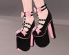 C! Bow High Heels - Pink