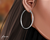 f. small silver hoops