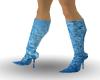 blue metalic boots