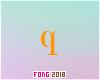Fo. Q Letter Orange