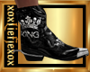 [L] KING Silver Boots M