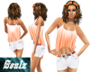 Summer Peach Short Set