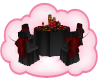 Blk/Red Wedding Table