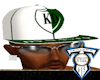 Wht/Grn KD Fitted Hat