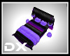 HD Black and Purple Bed