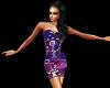 Purple Floral Sequins