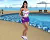 Summer Shorts-Purple