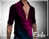 Electric red open shirt