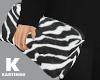 Zebra Folded Pouch