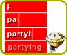 partying status sticker