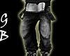[GB] Black Jean Bibs