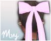 Pink hair bow