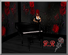 red rose piano