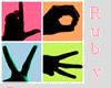 *R* love sticker
