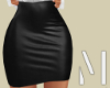 Black Satin Skirt | L