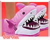 Shark slippers - Pink