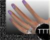 Lavender Short Nails