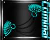 |F| Teal Shoulder Spikes
