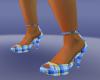 blue schots heel shoes