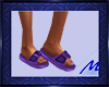 Purple Beach Sandal