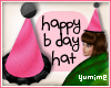 [Y] Pink Birthday Hat