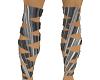 silver leg straps