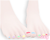 ♡ rainbow pedicure