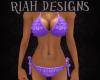 Purple Frill Bikini