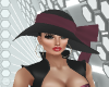 Black Hat Plum Ribbon