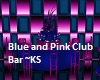 Blue and Pink Club Bar
