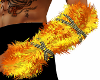 Golden Fur Arm Warmers M