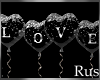 Rus: LOVE Black Balloons