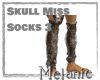Skull Miss Socks 3