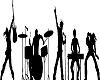 Rock Band silhoute