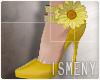 [Is] Flower Heels Yellow