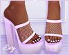 Lilac Net Heels
