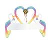 Rainbow Wed Bench